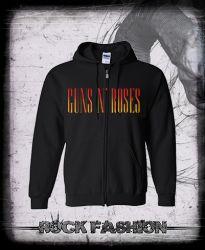 Mikina na zip GUNS N ROSES nadměrná velikost