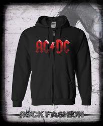 Mikina na zip AC/DC Black Ice nadměrná velikost