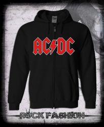 Mikina na zip AC/DC Rock N´ Roll nadměrná velikost