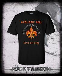 Pánské triko AXEL RUDI PELL Live On Fire