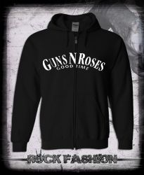 Mikina na zip GUNS N ROSES Good Time nadměrná velikost