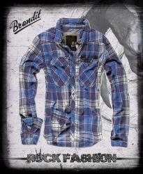 Košile BRANDIT Check Shirt modrá