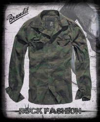 Košile BRANDIT SlimFit woodland