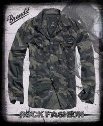 Košile BRANDIT SlimFit darkcamo