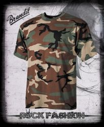 Pánské triko US T-Shirt woodland nadměrná velikost