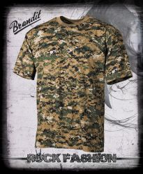 Pánské triko US T-Shirt woodland digital