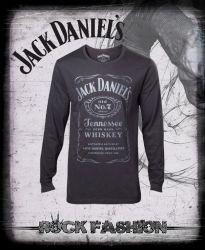 Pánské triko s dlouhým rukávem JACK DANIELS JACK DANIELS Grey Logo