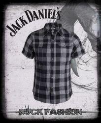 Pánská košile JACK DANIELS károvaná krátký rukáv