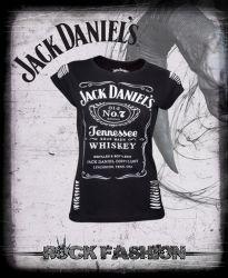 Dámské tričko JACK DANIELS škrty
