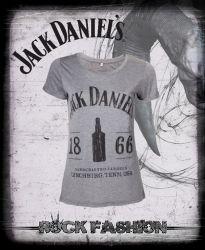 Dámské tričko JACK DANIELS 1866 šedé
