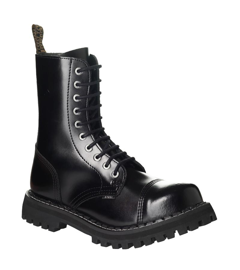 d38b95e9489 Steel Boots Černá