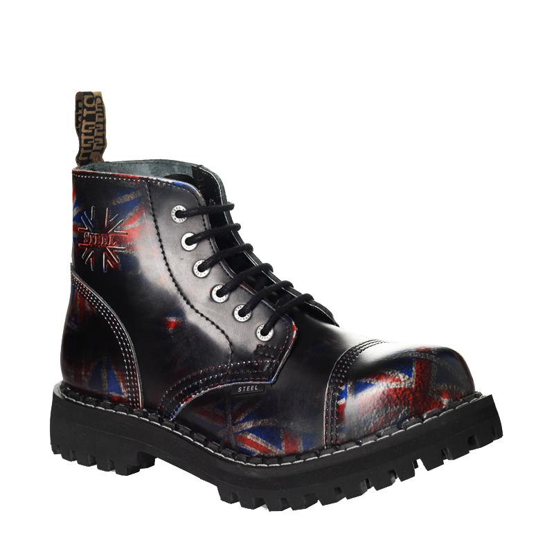 68985d5fcf4 Boty Steel - obuv steel pro každého rockera